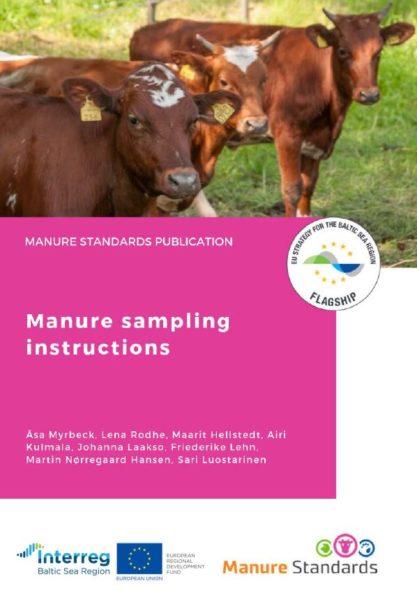 Manure sampling instructions
