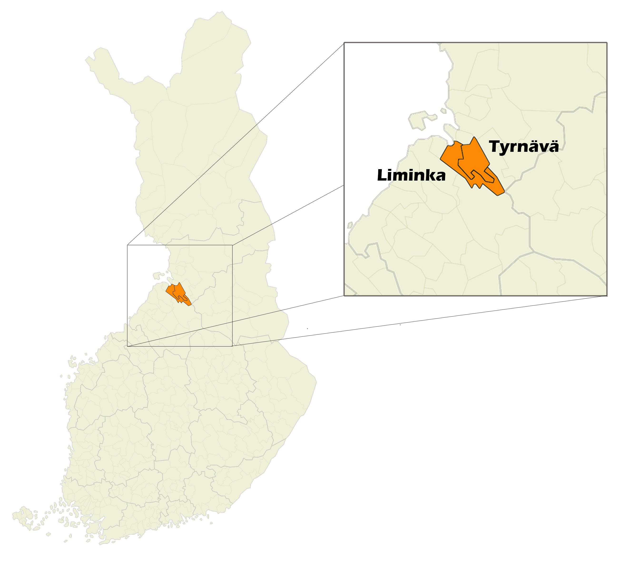 Kartta Liminka Tyrnava Food Facts